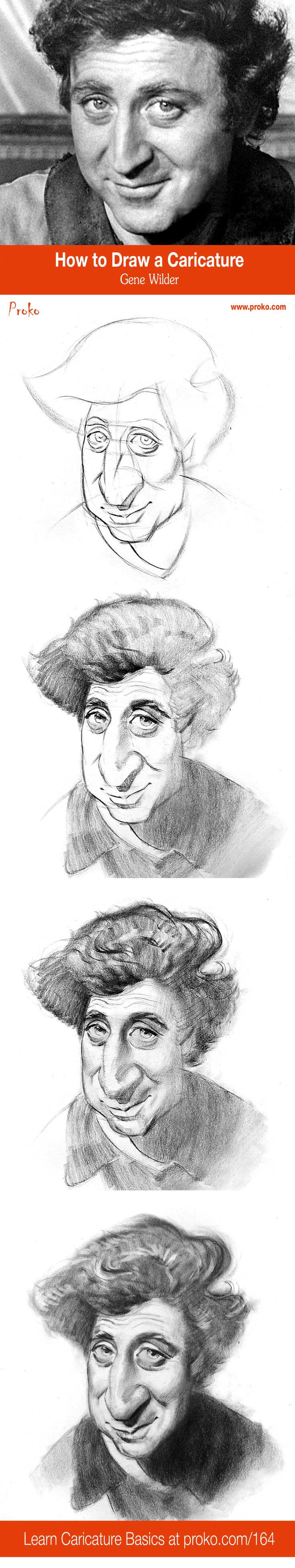 A caricature, at its core, is a portrait where the proportions are changed to highlight what makes a person different from everyone else. Hopefully, the result is funny. And ideally, a caricature will look more like the person than they look like themselves. Learn more at proko.com/164  Caricature by Court Jones