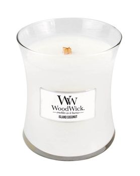 WoodWick Medium Sized Soy Candle: Island Coconut | threemadfish.com