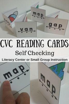 The Connett Connection: CVC Reading and Blending Cards #cvc #reading #kindergarten #productvideo #tpt #teacherspayteachers #blendingsounds #phonics