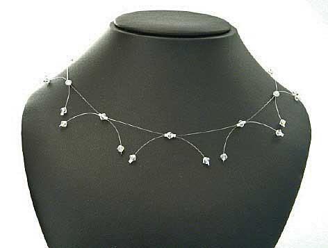 Swarovski illusion necklace Sterling Silver by SheRocksJewellery