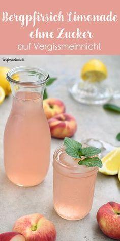 Wie wäre es mit einer leckeren Erfrischung? Meine selbstgemachte Bergpfirsich Limonade wäre da genau das richtige. Eisgekühlt, schön fruchtig und leicht sauer schmeckt es am besten. Ein einfaches Rezept ohne Zucker.