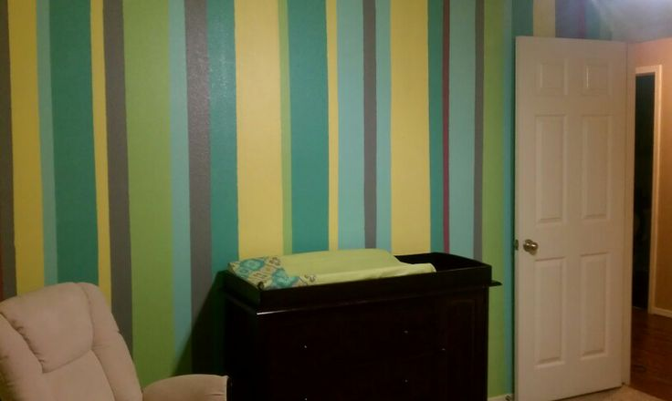 accent wall with vertical stripes lexi grayce pinterest blue and white blue and and. Black Bedroom Furniture Sets. Home Design Ideas
