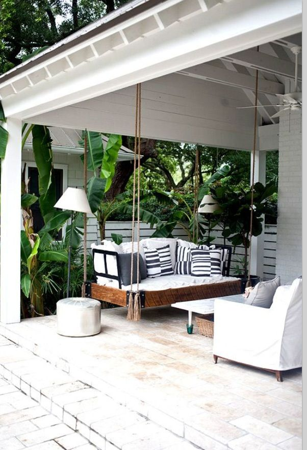 Fab swing and Tropical patio setting xx