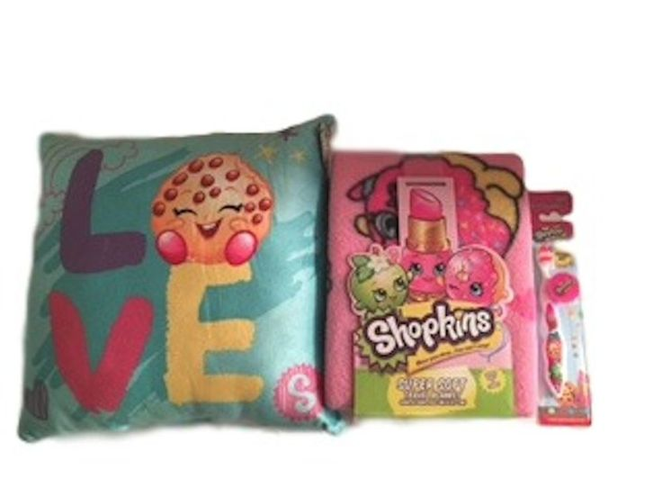 Shopkins Pillow And Throw Blanket And Toothbrush Bedtime Bundle #Shopkins