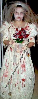 Homemade Zombie Bride Halloween Costume: My daughter got the idea for her Homemade Zombie Bride Halloween Costume  this year from watching Michael Jackson's Thriller video for the first time.