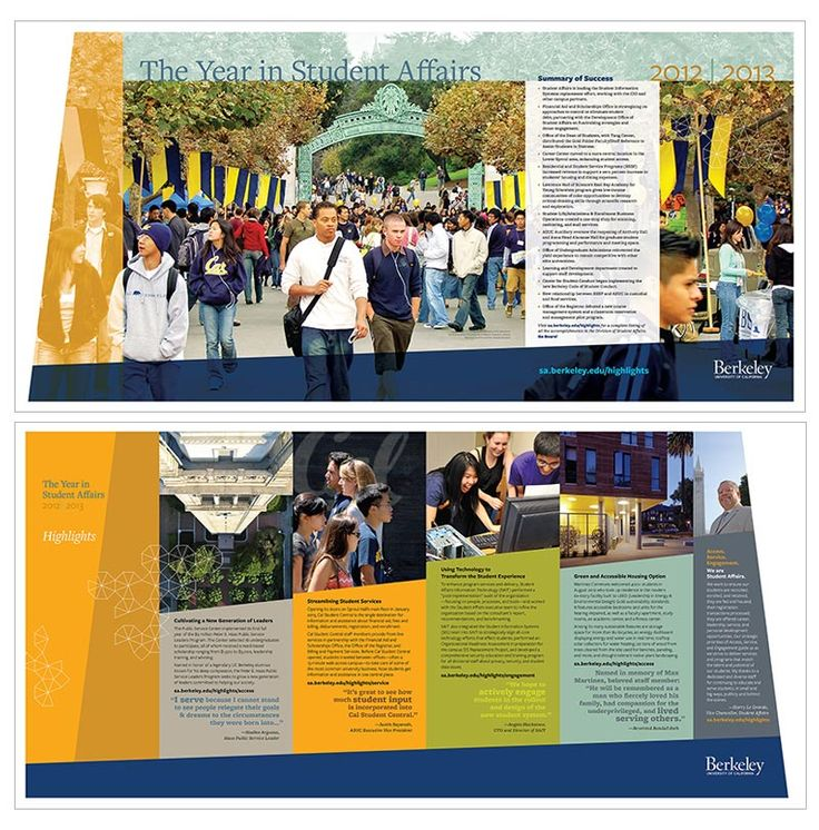 Brochures Showcase | UC Berkeley Brand Identity