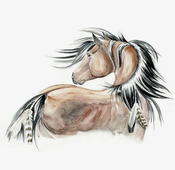 indian horse tattoo designs | Native American horse tattoo. This would look really good as a pencil ...
