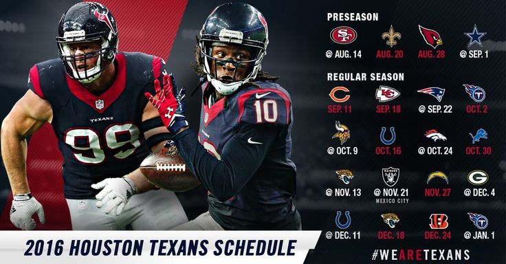 2016 Houston Texans Schedule