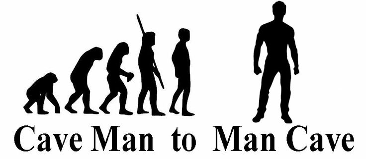 Man Cave Leeds : Cave man decal transfer sticker can be customised