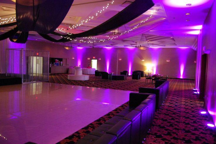 Fabulous setup at this #purple #uplighting #wedding #reception! #diy #diywedding #weddingideas #weddinginspiration #ideas #inspiration #rentmywedding #celebration #weddingreception #party #weddingplanner #event #planning #dreamwedding by @concordei