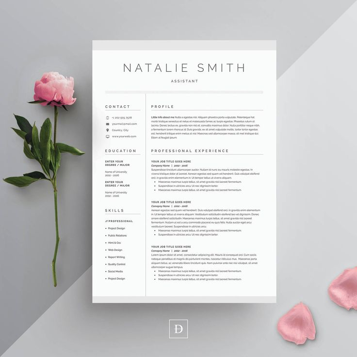 Resume Template 3 page CV Template Cover
