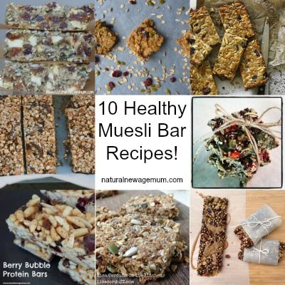 10 Healthy Muesli Bar Recipes. The best from Aussie bloggers! Gluten free, nut free, dairy free, allergy friendly - it's all here!