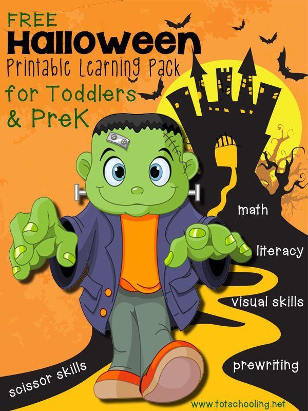 free halloween printable pack for toddlers prek - Halloween Preschool Ideas
