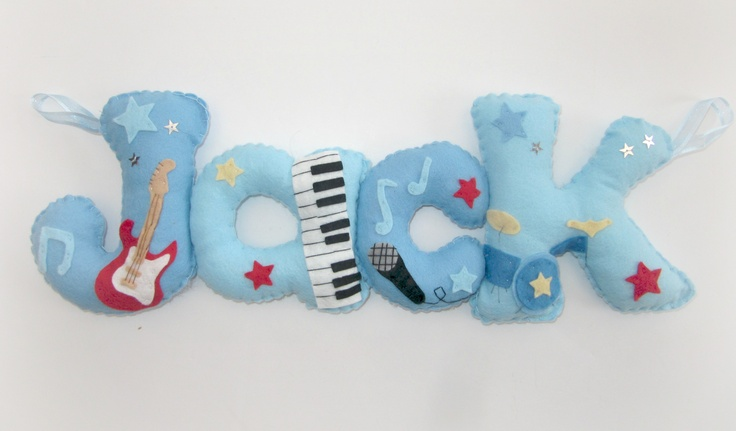 Music themed personalised felt banner. https://www.facebook.com/media/set/?set=a.240525462666178.74326.229312853787439=3#!/photo.php?fbid=497678103617578=a.240525462666178.74326.229312853787439=3