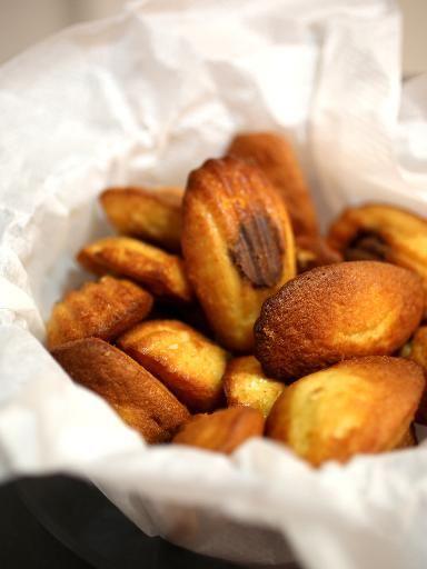 Madeleines au coeur de nutella - Recette de cuisine Marmiton : une recette