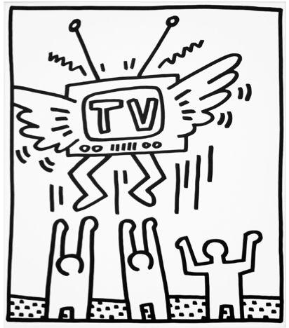 Flying TV by Keith Haring https://artsation.com/en/shop/keith-haring