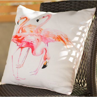 """Bay Isle Home Emory Outdoor Throw Pillow Size: 20"""" H x 20"""" W x 2"""" D"""
