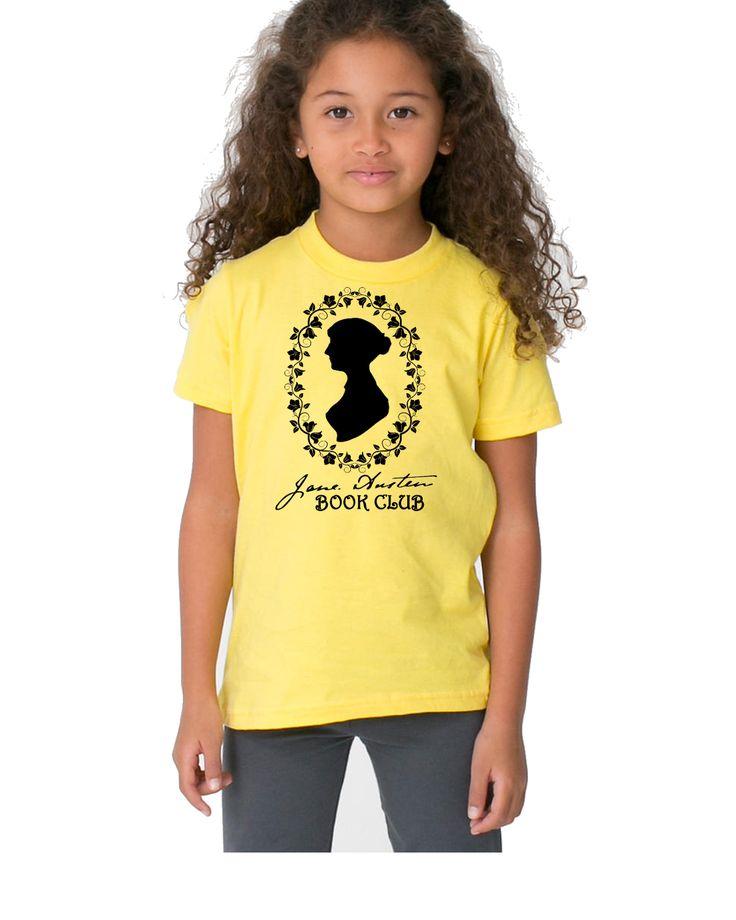 Jane Austen Book Club Youth T Shirt Nerd Girl Tees, Geek Chic, kids tee, nerdy kids
