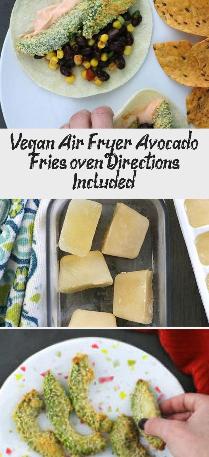 How to make avocado fries in the air fryer. These crispy