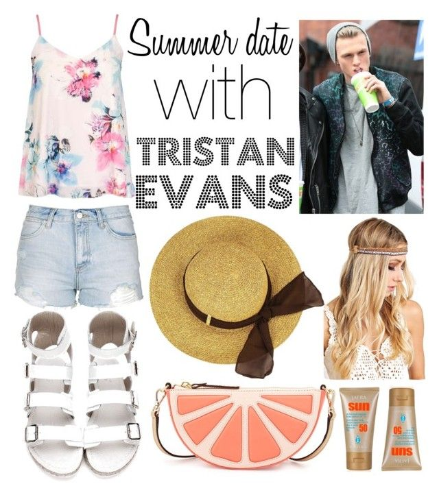"""With Tristan Evans"" by beatrigitaa on Polyvore featuring Dorothy Perkins, Topshop and Kate Spade"