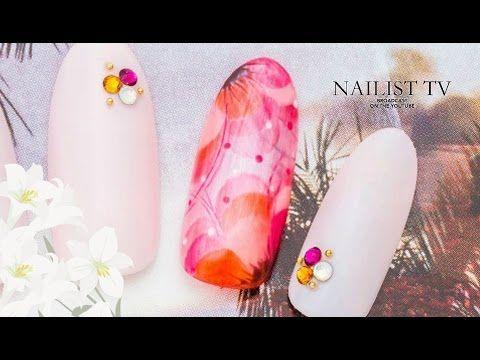 この夏は人とは一味違うクリアフラワーネイルに挑戦!NAILIST TV - YouTube