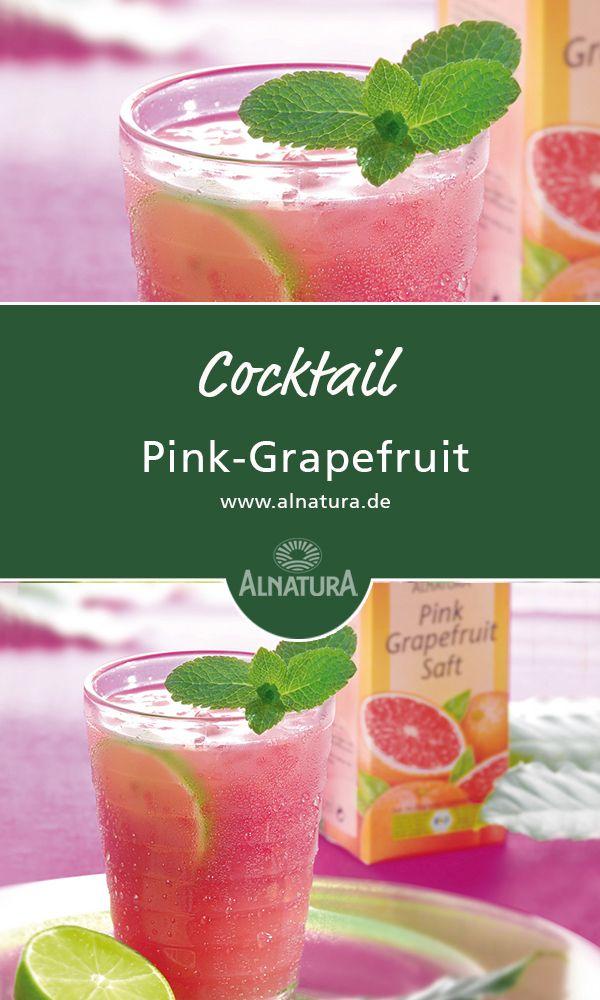#Alnatura #Rezept für #Cocktail mit #Pink - #Grapefruit #Silvester #Party #yummy