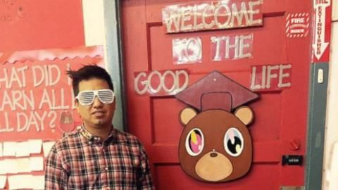 Teacher's Kanye West-Themed Classroom Welcomes Students to the 'Good Life'