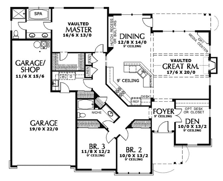 arts and crafts ranch house plans