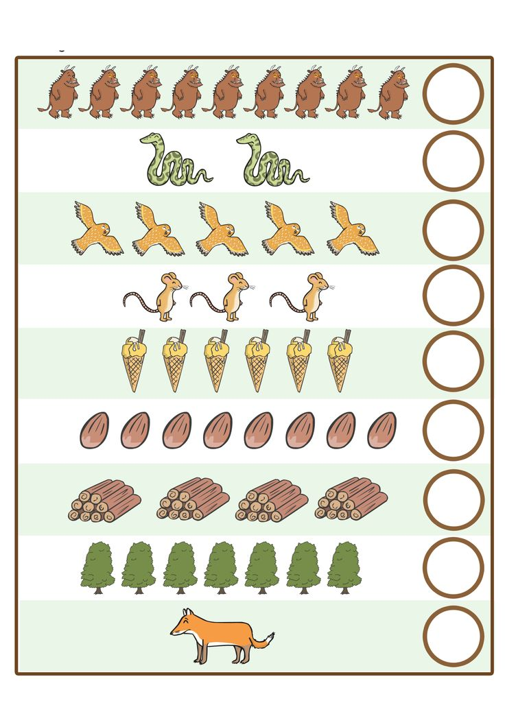 The gruffalo worksheet