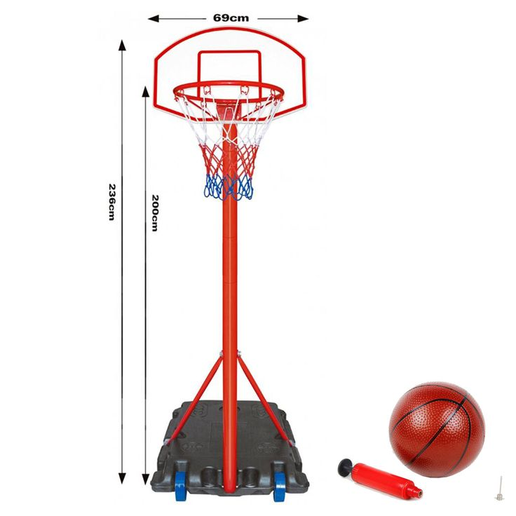 Free ##standing #basketball net hoop backboard , adjustable #stand set 236 cm heig,  View more on the LINK: http://www.zeppy.io/product/gb/2/191948800838/