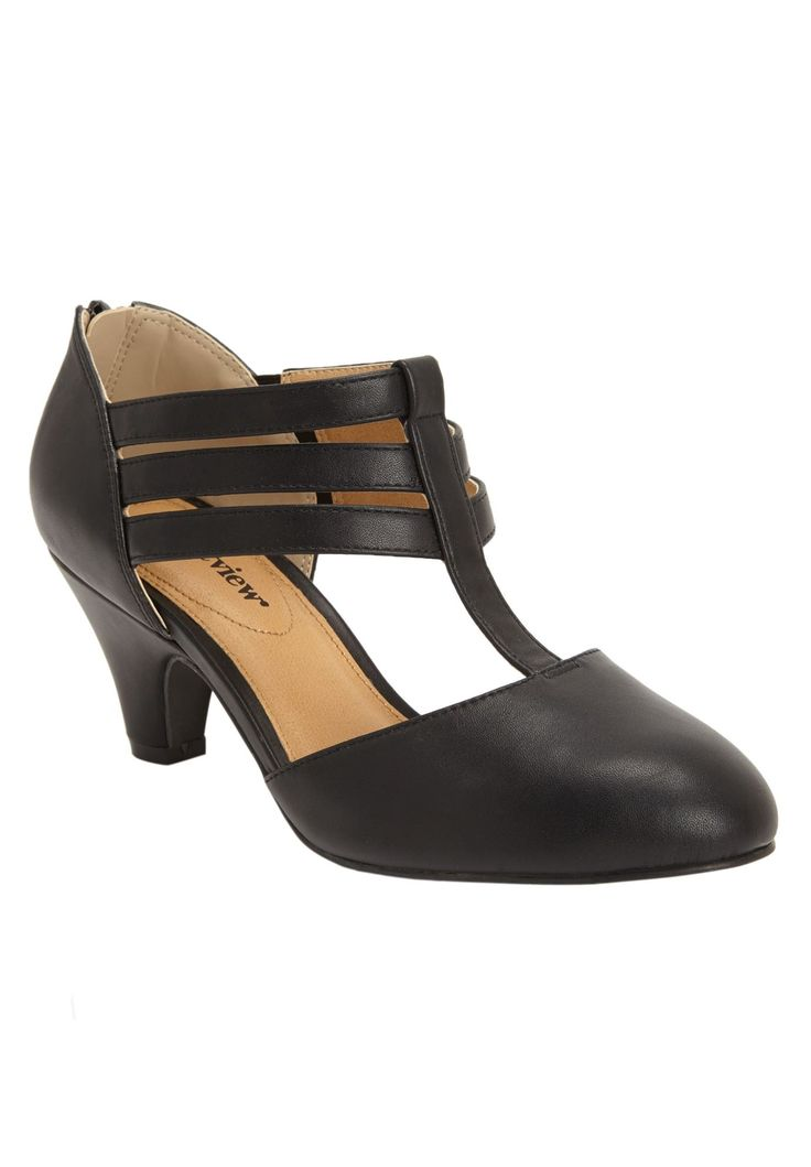 Wide Width Selah T-strap Pump by Comfortview® | Pumps & Slings from Woman Within