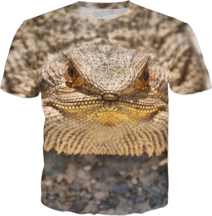 Bearded Dragon T-Shirt by Terrella and other items featuring this image are available at https://www.rageon.com/products/bearded-dragon-28?aff=BSDc on RageOn!