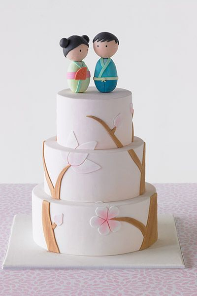 Japanese Garden statement wedding cake from Sharon Wee Creations