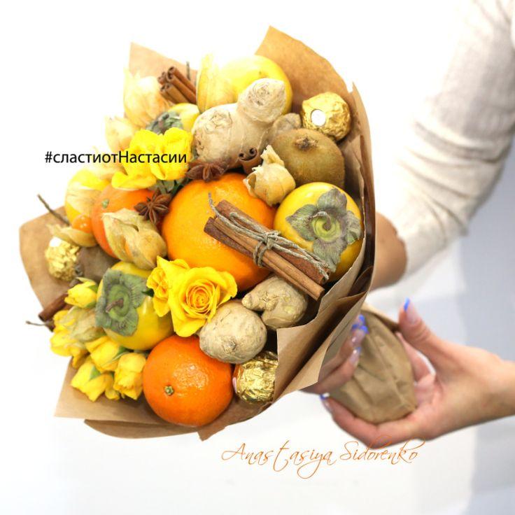 """Gallery.ru / Букет из фруктов """"Пряные мысли"""" - Букеты из фруктов - AnastasiyaSidorenko"""