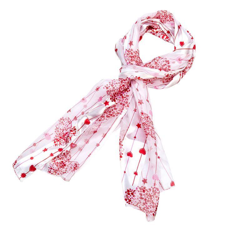 valentines day heart scarf white star valentines scarves purple box jewelry