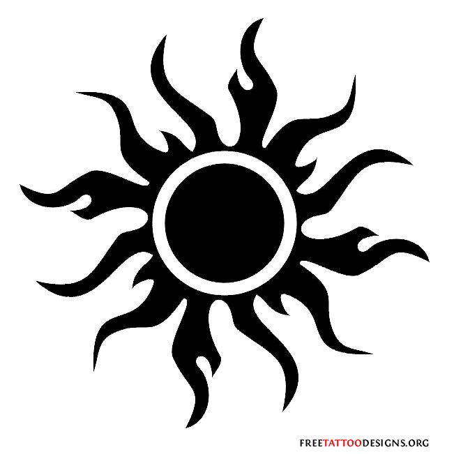 65 Sun Tattoos | Tribal Sun Tattoo Designs                                                                                                                                                     More