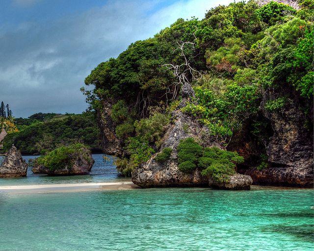 Snorkelled around this rock at isle of pines, New Caledonia