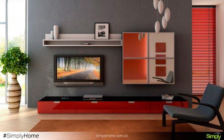 El rojo da vida y confort a tus espacios así sean reducidos. #SimplyHome #SimplyHomeCol #Simply #Home #Decoracion