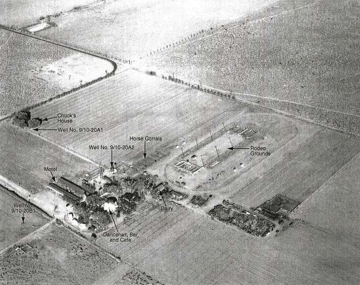 C 1952 Aerial Photograph Of Pancho Barnes Quot Oro Verde Ranch