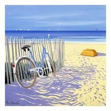 L'artiste de cette oeuvre est Henri Deuil. Les couleurs sont bleue,beige, jaunes etc. J'ai choisi celle-ci parce que cela me rappelle les vacances d'été, les voyages que j'ai fait et surtout parce que j'adore la plage et la mer. Je ressens de la joie en voyant cette image car le soleil, la mer et tout nous rendent de bonne humeur.