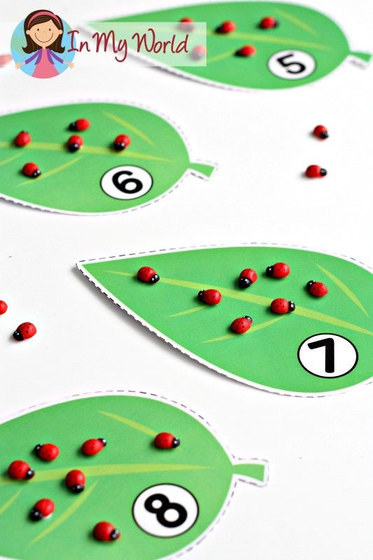 FREE Spring Preschool Centers Ladybug counting activity