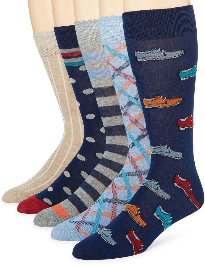 STAFFORD Stafford 5-pk. Cotton-Rich Crew Socks - Big & Tall