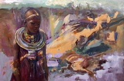 "Painting - Liviu Mihai ""Masai women"""
