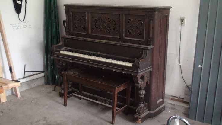 Antique Emerson Boston Upright Piano - For Restoration or Part ...