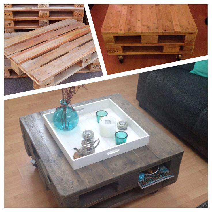 DIY salontafel gemaakt van pallets   Like   Pinterest   Pallets, Van and DIY and crafts
