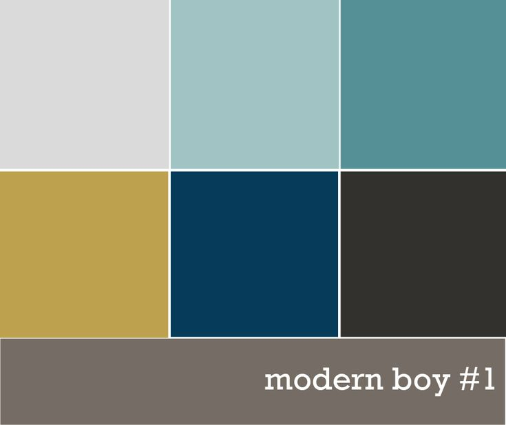 Kids Rooms Climbing Walls And Contemporary Schemes: Modern Boys' Color Palette