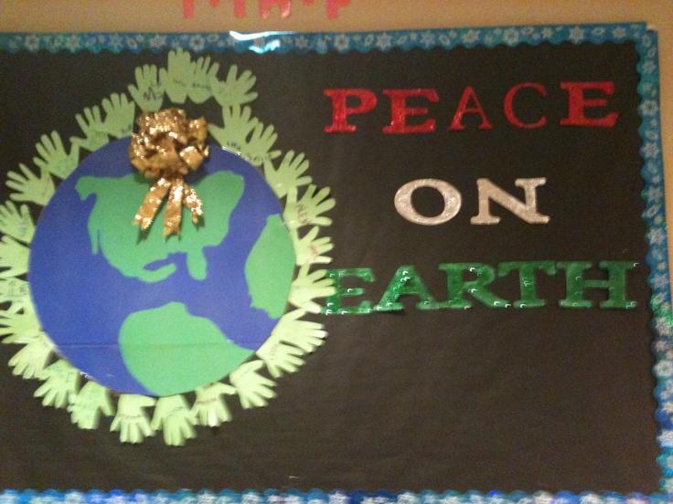 December Bulletin Board Peace On Earth December