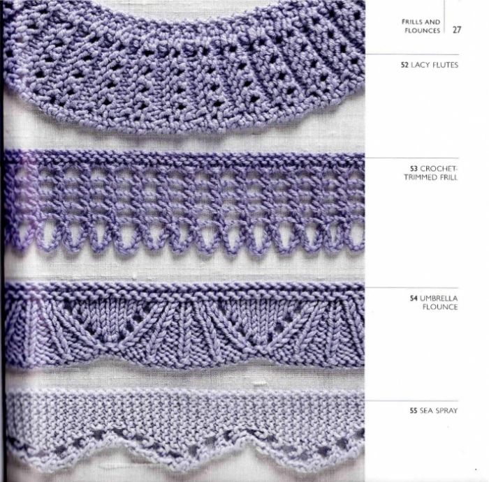 Knitting Edges And Borders : The best images about lace knitted edges borders