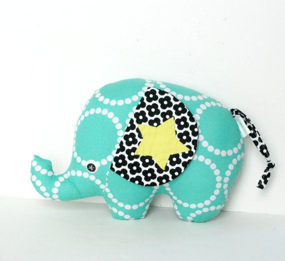 Plush Elephant Softie Baby Childrens Stuffed by FriendsOfSocktopus, $24.00