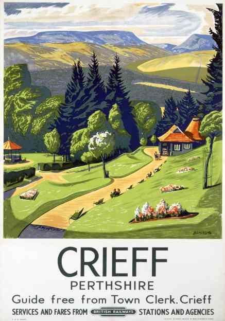 Crieff, Scotland, Perthshire, Vintage British Railways Travel Posters Print